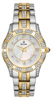 Bulova Crystal Naisten kello 98L135 Valkoinen/Kullansävytetty teräs Ø30