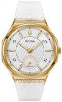 Bulova Diamond Naisten kello 98R237 Valkoinen/Kumi Ø40.5 mm