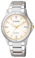 Citizen Elegance Naisten kello FE6054-54A Valkoinen/Kullansävytetty