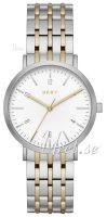 DKNY Dress Naisten kello NY2505 Valkoinen/Kullansävytetty teräs Ø36 mm