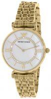 Emporio Armani Dress Naisten kello AR1907 Valkoinen/Kullansävytetty