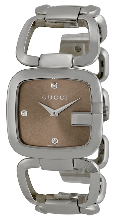 Gucci G Gucci Naisten kello YA125401 Ruskea Teräs - rannekello.fi bb12efb0da