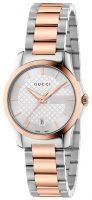Gucci G-Timeless Naisten kello YA126564 Hopea/Punakultasävyinen Ø27 mm