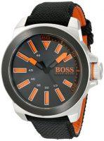 Hugo Boss New York Miesten kello 1513116 Musta/Nahka Ø50 mm