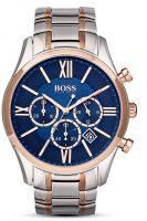Hugo Boss Ambassador Miesten kello 1513321 Sininen/Punakultasävyinen