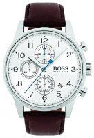 Hugo Boss Chronograph Miesten kello 1513495 Valkoinen/Nahka Ø44 mm
