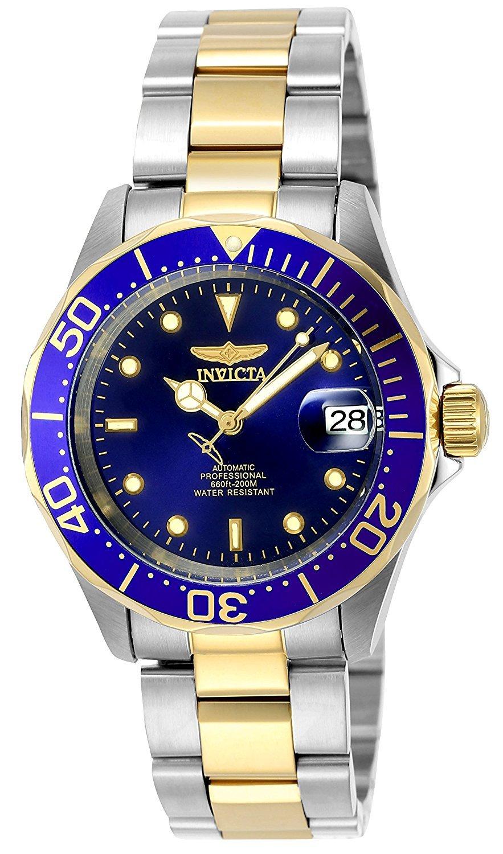 Pro Diver   Sininen/Kullansävytetty teräs