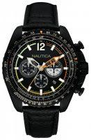 Nautica Chronograph Miesten kello NAI22506G Musta/Nahka Ø48 mm