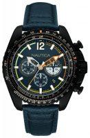 Nautica Chronograph Miesten kello NAI22507G Sininen/Nahka Ø46 mm