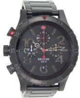 Nixon The 48-20 Chrono A4861320-00 Musta/Teräs Ø48 mm