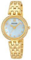 Pulsar Dress Naisten kello PH8164X1 Valkoinen/Kullansävytetty teräs Ø28