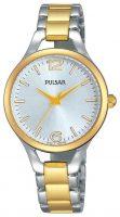 Pulsar Dress Naisten kello PH8186X1 Hopea/Kullansävytetty teräs Ø30 mm