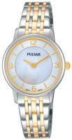 Pulsar Dress Naisten kello PRW027X1 Valkoinen/Kullansävytetty teräs Ø28