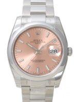 Rolex Perpetual Date Miesten kello 115200-0005 Pinkki/Teräs Ø34 mm
