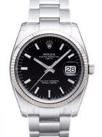 Rolex Perpetual Date Miesten kello 115234-0002 Musta/Teräs Ø34 mm