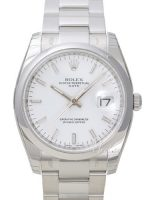 Rolex Oyster Perpetual Date Miesten kello 115200-0008 Valkoinen/Teräs