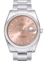 Rolex Oyster Perpetual Date Miesten kello 115234-0006 Pinkki/Teräs Ø34 mm