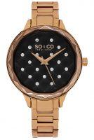 So & Co New York Lenox Naisten kello 5255.4 Musta/Punakultasävyinen