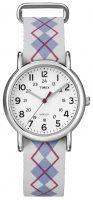Timex Weekender Naisten kello T2N918 Valkoinen/Nahka Ø31 mm