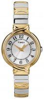 Timex Classic Elevated Naisten kello T2N979 Hopea/Kullansävytetty teräs