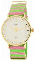 Timex Weekender Naisten kello TW2P91800 Valkoinen/Kullansävytetty teräs