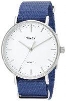 Timex Weekender Miesten kello TW2P97700 Valkoinen/Tekstiili Ø41 mm