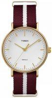 Timex Weekender Naisten kello TW2P98100 Valkoinen/Tekstiili Ø37 mm