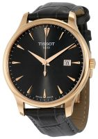 Tissot Tradition Gent T063.610.36.086.00 Musta/Nahka Ø42 mm