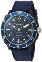 Alpina Horological Smartwatch Miesten kello AL-282LNN4V6 Sininen/Kumi Ø44