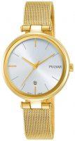 Pulsar Dress Naisten kello PH7462X1 Hopea/Kullansävytetty teräs Ø29 mm