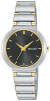 Pulsar Attitude Naisten kello PH8331X1 Musta/Kullansävytetty teräs Ø28