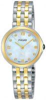 Pulsar Attitude Naisten kello PM2244X1 Valkoinen/Kullansävytetty teräs
