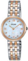 Pulsar Attitude Naisten kello PM2246X1 Valkoinen/Punakultasävyinen Ø26 mm