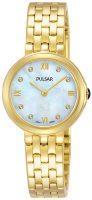 Pulsar Attitude Naisten kello PM2248X1 Valkoinen/Kullansävytetty teräs