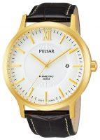 Pulsar Dress Miesten kello PAR182X1 Valkoinen/Nahka Ø44 mm