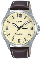 Pulsar Dress Miesten kello PJ6085X1 Samppanja/Nahka Ø42 mm