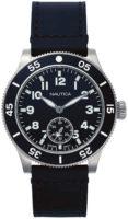 Nautica Huston Miesten kello NAPHST002 Musta/Nahka Ø44 mm