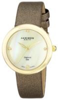Akribos XXIV Impeccable Naisten kello AK687YG Valkoinen/Satiini Ø30