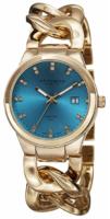 Akribos XXIV Diamond Naisten kello AK759YGT Sininen/Kullansävytetty