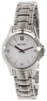 Bulova Diamond Naisten kello 96P152 Valkoinen/Teräs Ø30 mm