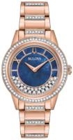 Bulova Crystal Naisten kello 98L247 Sininen/Punakultasävyinen Ø33 mm
