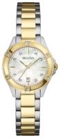Bulova Diamond Naisten kello 98W217 Valkoinen/Kullansävytetty teräs