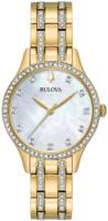 Bulova Crystal Naisten kello 98X119 Valkoinen/Kullansävytetty teräs