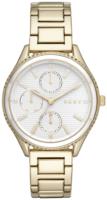 DKNY Chronograph Naisten kello NY2660 Valkoinen/Kullansävytetty