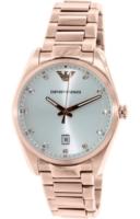 Emporio Armani Classic Naisten kello AR6065 Hopea/Punakultasävyinen