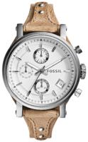 Fossil Casual Naisten kello ES3625 Valkoinen/Nahka Ø38 mm