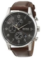 Hugo Boss Chronograph Miesten kello 1513494 Harmaa/Nahka Ø44 mm