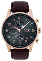 Hugo Boss Chronograph Miesten kello 1513496 Harmaa/Nahka Ø44 mm