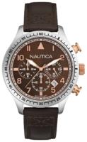 Nautica Chronograph Miesten kello A17655G Ruskea/Nahka Ø44 mm