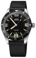 Oris Diving Miesten kello 01 733 7707 4064-07 5 20 24 Musta/Tekstiili